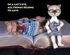Hey, I was reading that! (bentwhisker) Tags: dolls bjd resin nympheasdolls brioche dollzone burton tomcat anthro cat kitty feline siamese 1310