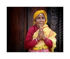 Elderly lady (posterboy2007) Tags: nepal elderly old lady color sony bhaktapur