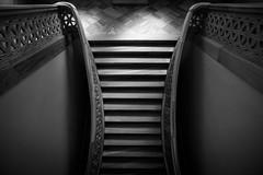 Symmetry / inside the museum (Özgür Gürgey) Tags: 2016 20mm bw d750 eminönü nikon voigtländer architecture light museum shade staircase symmetry istanbul