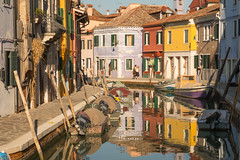 Burano Snapshots (Rocacidi) Tags: venice venezia italy burano colours houses architecture colourful canal water reflections pretty boats blue yellow peaceful serene quiet sunny