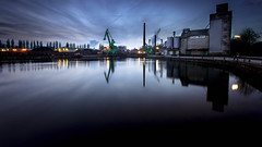 Osnabrueck Harbour (MartinFechtner-Photography) Tags: canon eos 6d 1740mml l lense reflection hafen harbour osnabrück osnabrueck bluehour blauestunde