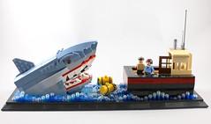 We're going to need a bigger boat (AzureBrick) Tags: lego shark bigger boat jaws garmadon mech 70656 the ninjago movie orca