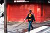 Un autre Paris #34 - La Maison - Pyrénées (Paolo Pizzimenti) Tags: autre paris maison pyrénées homme rouge orange café dehors vie paolo olympus omdem1mkii film pellicule argentique m43 mirrorless dosineau