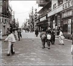 Japan 3 (ookami_dou) Tags: vintage japan street shop stereoview road building