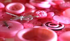 Pink Fashion MM (francepar95) Tags: macromondaysandbuttonsandbows buttons bow pink hmm boutons boucle rose theme fashion