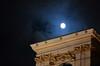 Vienna moon (Wolfgang Binder) Tags: moon sky clouds building vienna nikon d7000 zeiss planar planart2100 wien night dark city guessedvienna