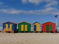 Surfers Corner (rjmiller1807) Tags: huts beachhuts surferscorner stjames muizenberg surfing colourful sea sand sky sonydsch300 cybershot 2017 june solarpanel green blue yellow red capetown capepeninsula southafrica westerncape