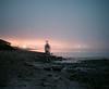 Fade Into the Night (Evan's Life Through The Lens) Tags: film mamiya mamiyarz67 120film fugifilm grain fade sharp beautifu vibrant color mediumformat longexposure night fog bright beach ocean