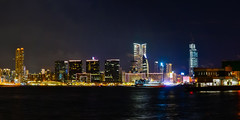 Night at Victoria Harbor, Hong Kong (kcma17) Tags: hong kong victoria harbor night sky skyscape clouds air flow nikon