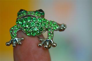 frog and fingertip.........