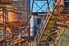 Old factory & quarry (silverwine) Tags: old factory ruins abandoned iron rust industrial industry rusty quarry equipment disused