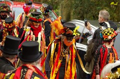 castleton morris dancers 2017 christmas lights switch on  (36) (Simon Dell Photography) Tags: powder kegs morris dancers castleton derbyshire countryside peak district simon dell photography autumn winter 2017 old english village christmas lights switch november street xmas tree decorations church peveril castle river house town