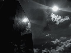Arise (Rob₊Lee) Tags: pareidolia otherworldly soaring soar midair flying phoenix bird art nature wonders building clouds flare flares double sun cloudy form formation windows panels glass surreal phenomenon painting monochrome extreme meaning 140000 sky