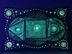 Division Board, In the dark, Acrylic mix on wood board, Visible in the dark, 29 x 40 cm By Farshad Sanee The Apple (Farshad Sanaee The Apple) Tags: art painting kunst sky dimension dark visible hypnotic galaxy stars space cosmos constellation view vertigo board secret artist astrophysics mystery mathematics ocean journey mystical puzzle window kaleidoscope light imagination universe star effect planet power transition energy map screen