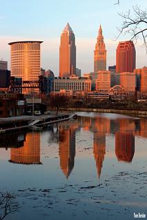 Cleveland Skyline Reflected