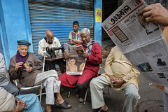 Morning | Kolkata (SaumalyaGhosh.com) Tags: morning thek old age people group color newspaper reading model flower oldman street streetphotography india kolkata