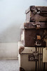 Suitcases (borealnz) Tags: suitcase pile stack vintage travel