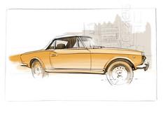 fiat spider s (Stefan Marjoram) Tags: sketch drawing ipad pro procreate apple pencil car vintage racing plein air