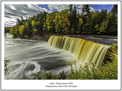 Upper Tahquamenon Falls (TAC.Photography) Tags: slowshutter longexposure flowing rushing rushingwater michiganriver up iron waterfalls swirls fall fallcolor autumn orange yellow colors statepark tahquamenon landscape nature landscapephotography tacphotgoraphy tomclarkphotographycom tomclark d7100