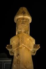 DSC_8147 (Copy) (pandjt) Tags: chilliwack bc britishcolumbia stólō stolo yakweakwioose firstnation yakweakwioosefirstnation terryhorne chiefterryhorne welcomefigures welcome sculpture carving publicart nightphotography longexposure lightpainting