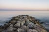 A dike towards the sea (. Christian Ferrer .) Tags: nikon dike digue blue frontignan aresquiers occitanie