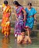 varanasi 2017 (gerben more) Tags: woman man ganges ganga colours colors sari shirtless bathing ritualbathing varanasi benares india