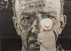 The Art Lover (J MERMEL) Tags: genres geography nyc people portraits art mosaic subway mural