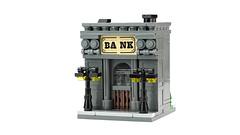 Bank (de-marco) Tags: lego mini modular town city bank building