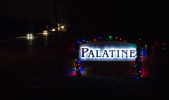 Palatine 60067 #48 (Joe_Petykowski_Jr) Tags: palatine 60067 lights road holidaylights hometown local 52in2017 night midnight cars headlights