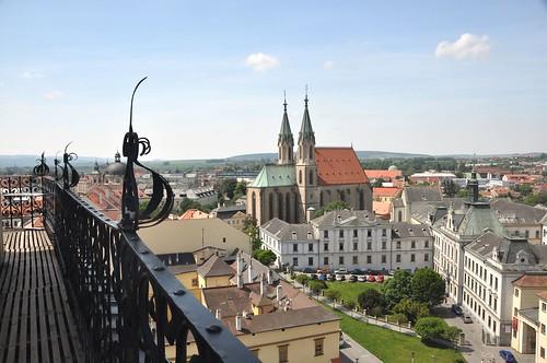 Kroměříž. Ausblick vom Schlossturm