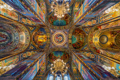 Interior of The church of the Saviour of spilled blood. (tehhanlin) Tags: church cathedral spilledblood spilled blood saintpetersburg petersburg russia soviet interior sony ngc visitrusia landscape view christian fe1224