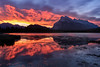 Skyfire (Kristin Repsher) Tags: alberta banff banffnationalpark canada canadianrockies d750 mountrundle mountains nikon reflections rockies rockymountains secondvermilionlake sunrise vermillionlakes