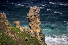 Geology of Cape (Coisroux) Tags: rocks mountains geology capepoint atlanticocean capeofgoodhope oceans water cliffs steep incline granite landscape boulders sea waves d5500 nikond seashore peninsula sundaysliders