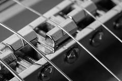 [058/365] Macro Monday: Musical Instrument (massi2403) Tags: blackandwhite monochrome macro bridge macromonday guitar members choice musical instruments day058