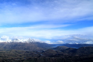 The Remarkables view from Coronet Peak, Queenstown in New Zealand South Island
