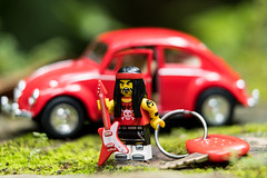 Nuclear Evolution (minifigphoto) Tags: lego legophotography legoart miniatureart miniaturephoto minifigs cute kawaii minifigure legoaddict legoaddiction legolove legofun upclose macro toyphotography lovephotography geek toyphotographers vw keys red guitar music metal concert volkswagen