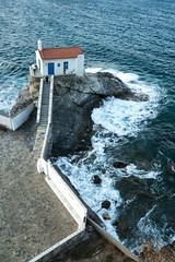 Chora, Andros, Greece (ChrisGoldNY) Tags: challengewinners challengefactory chrisgoldphoto chrisgoldny chrisgoldberg forsale licensing bookcovers bookcover albumcover albumcovers sonyalpha sonya7rii sonyimages sony greece greek grecia greekislands cyclades coast wave waves waterscapes churches batsi aegian aegiansea sea aerial fromabove coastal andros easterneurope europe aegean eu beach beaches playa