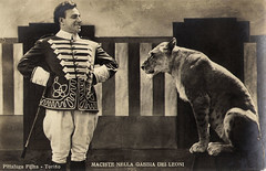 Bartolomeo Pagano in Maciste nella gabbia dei leoni (1926) (Truus, Bob & Jan too!) Tags: bartolomeopagano bartolomeo pagano macistenellagabbiadeileoni maciste 1926 italian film cine cinema kino picture screen movie movies filmster star vintage postcard cartepostale tarjetpostal cartolina postkarte postkaart briefkarte briefkaart ansichtskarte ansichtkaart edatraldi traldi pittalugafilms pittaluga animals lion