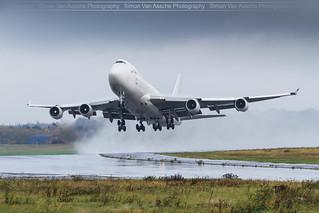 El Al B747F ( 4X-ELF ) take off @ Liège