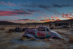 1937 Chevy Bodie Sunset (Jeffrey Sullivan) Tags: bodie state historic park night access photography workshop eastern sierra ridgeport california usa nature landscape canon 5dmarkiii photo copyright 2013 october jeff abandoned wild west ghost town workshops mono sunset 1937 chevy