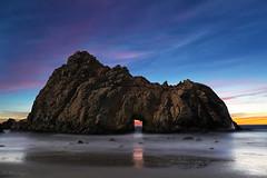 Moonlit Keyhole (Omnitrigger) Tags: keyhole bigsur pfeiffer pfeifferbeach beach ocean pacific coastline nature california keyholearch winter omnitrigger