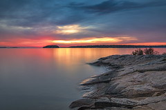 Sunset at Killbear Provincial Park (angie_1964) Tags: killbear provincial park ontario canada sunset clouds sky color colour nikond850 landscape nature seascape rock