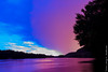 After The Rain (Larry E. Anderson) Tags: interstatestatepark minnesota stcroixnationalscenicriverway stcroixriver bluehour civiltwilight clouds ethereal expressivesky forest landscape reflection river riverbluff seasons silhouette sky summer sunset trees twilight water longexposer