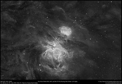 The Orion Nebula M42, M43, and Sh2-279 The Running Man Nebula in H-Alpha (Terry Hancock www.downunderobservatory.com) Tags: qhy qhy367c sky astronomy astrophotography astroimaging space cosmos universetoday