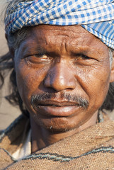 Baiga man (wietsej) Tags: baiga man sony a100 zeiss sal135f18z 13518 sonnar13518za portrait tribal maikal hills chhattisgarh india