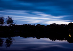 Blue Hour (wardephoto) Tags: landscape landscapephotography longexposure longexposurephotography longexposureclouds longexposurelandscape fall fallcolors bluehour sunset sunsetcolors sunsetphotography maine water wispywater forest newengland minimalism minimalist surreal nikon nikond3300 rural ruralphotography reflections
