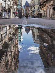 street reflected (alessandrochiolo) Tags: sicilia siciliabedda street sicily streetphoto sky streetphotografy sole streetphotography strada bicicle colori clouds cielo city fujix30 fujifilm fuji riflessidiluce riflessi