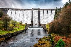 Claerwen Dam in the Elan Valley (karlmccarthy1969) Tags: dam water valley elan wide angle structure building claerwen