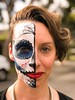 The Queen of Halloween (Pat Charles) Tags: 1001nights iphone person people face paint painting díadelosmuertos dayofthedead halloween makeup costume scary half asymmetry beauty beautiful pretty 1001nightsmagiccity