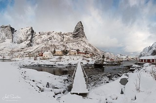 Bridge to the summit. Reine, Lofoten, Norway. (C) Joel Santos - www.joelsantos.net